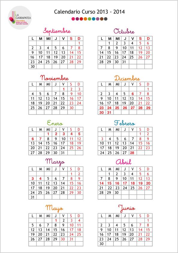 Calendario-La-Garrapatea-2013-2014